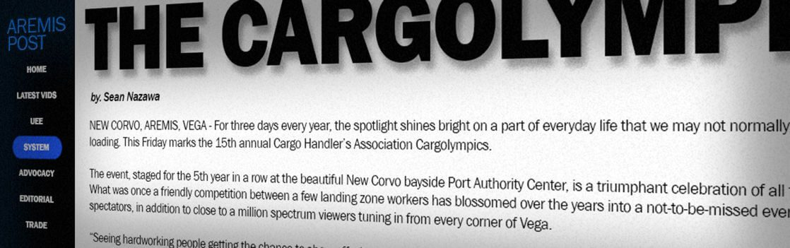 Aremis Post: Il Ritorno delle CargOlimpiadi